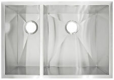 Modern Kitchen Sink Undermount Double Basin Zero Radius - 29 x 20 in 10 in Deep