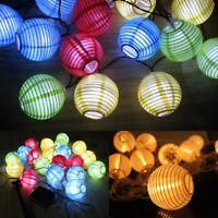 Garden Lantern Solar Gazebo String Leds Multi-color Bulbs Lights Lamp Powered