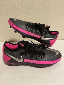 Nike Phantom GT Pro FG Jr CK8473-006 Soccer Cleats 6Y Women's 7.5 Black Pink