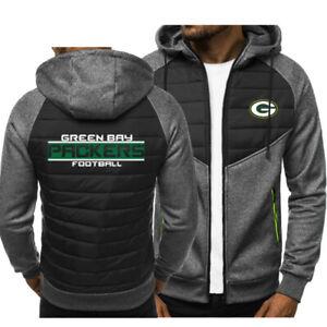 Green Bay Packers Hoodie Classic Autumn Hooded Sweatshirt Jacket Coat Top Tops