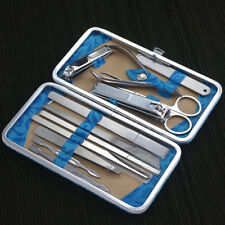 Manicure Pedicure Nail Care Set 12 Piece Cutter Cuticle Clipper Kit Present Case
