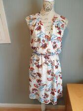 Warehouse Floral Print Skater Dress, Size 10 chiffon *VGC lined