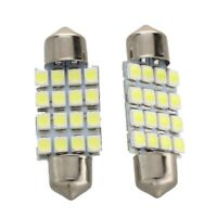 HU 2X AMPOULE NAVETTE FESTOON A 16 LED 3528 SMD 36MM BLANC