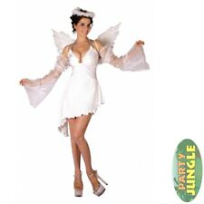 SEXY FEATHERED ANGEL HALLOWEEN - One Size - womens ladies fancy dress costume