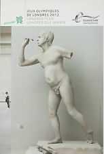 Original Vintage Poster London Summer Olympics 2012 Greek Statue Eurostar French