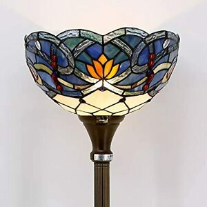 "Werfactory Tiffany Style Floor Lamp S00110F09 W10"" x H 66"" Multicolor- OPENBOX-"