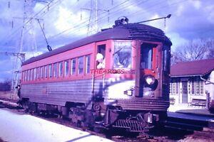 Original 1966 Chicago North Shore Trolley Car Deerpath Station IL Slide 6336