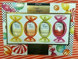 Philosophy 4pc HANDS OF HOPE GIFT SET Nurturing Hand & Nail Cream Lotion 1oz NEW