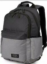"Swiss Gear 18"" Laptop Daypack 2789 Backpack Book Travel Bag Gray/Black School"