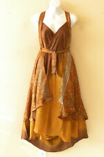"L39 Vintage Silk Magic 34"" Long Wrap Skirt Halter Summerwear Tube Maxi Dress"
