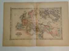 1863 Map of Roman Empire by Johnson