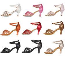 Brand New Women's Ballroom Latin Tango Dance Shoes heeled Salsa  Colors 1810