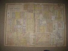 HUGE ANTIQUE 1924 ADAMS TOWNSHIP NOW TOLEDO LUCAS COUNTY OHIO MAP to 1947 RARE