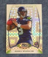 2012 TOPPS PLATINUM XFRACTOR RUSSELL WILSON ROOKIE CARD #138