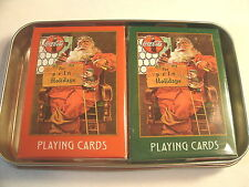 NICE DOUBLE DECK SET OF COCA-COLA CHRISTMAS PLAYING CARDS   COKE SANTA CARDS