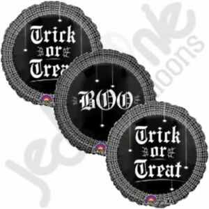 3 pc Trick or Treat Web Balloon Bouquet Happy Halloween Party Decoration Spooky