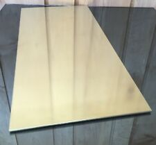 """1/8 BRASS SHEET PLATE NEW 10""""X20"""" .125 Thick *CUSTOM 1/8 SIZES AVAILABLE*"""