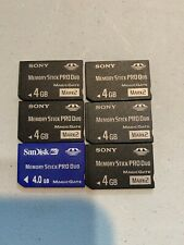 Lot Of 6 X 4 GB Sony & Sandisk Memory Stick Pro Duo Memory Card