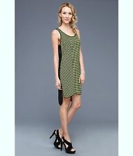 NWT MSRP $120 MICHAEL Michael Kors Women's Jardin Stripe Tank Dress, Pear, LARGE