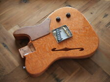 """WARMOTH Exotic Esquire """"FSolid"""" Loaded BodyLacewood / Mahogany Natural"""