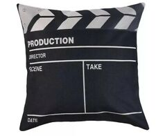 Movie Slate Clapper Cotton Linen Cushion Cover Light Camera Action