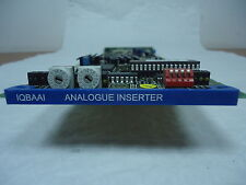SNELL & WILCOX IQBAAI 4 CHANNEL ANALOG AUDIO EMBEDDER CARD WITH REAR MODULE