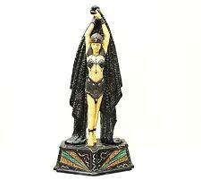 Rare Vintage Art Nouveau Woman Warrior Princess Jewel Sculpted Statue Figure Art