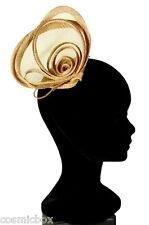 Petit chapeau de cérémonie femme pince RUE du BAG beige mariage taille unique