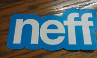 "NEFF, Blue & White, SKATEBOARD, SNOWBOARD, Cool, Sticker, 7"" x 3-1/2"""