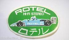ADESIVO AUTO F1 anni '80 / Old Sticker Vintage ROTEL HI-FI STEREO (cm 12 x 7,5)