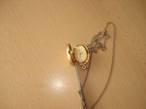 ROYAL Damenuhr Kettenanhänger / Handaufzug /  Gold - farben