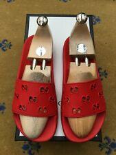 Gucci Mens Sandals Flip Flop Slide Shoes UK 7 US 8 41 Red Rubber Sliders G Motif