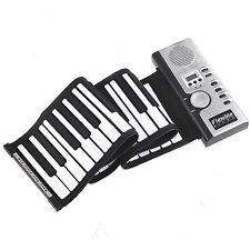 Roll-Up 61 MIDI Soft Key Synthesizer Electronic Piano Keyboard Mic