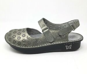 Alegria NWOT Jemma Mary Jane Size EU 40 or US 9.5 / 10 Shoes Leather Pewter