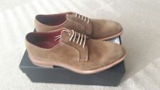 LOAKE DESIGN TAN SUEDE DERBY SHOES SIZE 9.  RRP-£160