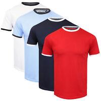 Mens Brave Soul 'Tallon' 100% Cotton Contrast Crew Neck T-Shirt NEW SS17