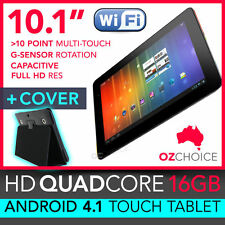"""NEW 16GB 10.1"""" ANDROID 4.1 QUADCORE TOUCH SCREEN TABLET CAPACITIVE+CASE COVER 7"""