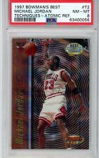 1997-98 Bowman's Best Techniques Michael Jordan ATOMIC REFRACTOR #T2 PSA 8