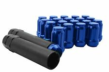 20 BLUE FORGED SPLINE TUNER LUG NUTS M12X1.5 Fits: Aftermarket Wheels JDM Honda