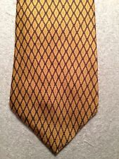 PERRY ELLIS MENS TIE 3.75 X 57 GOLD WITH DIAMOND PATTERN