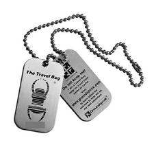 Geocaching Travel Bug Dog Tags Pair Unactivated Free Shipping