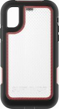 Griffin Survivor Extreme Case for Apple iPhone X - Clear/Black/Red - In Box - VG