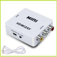 ADATTATORE Da HDMI A AV CVBS RCA CONVERTITORE HD AUDIO VIDEO PAL/NTSC + CAVO USB