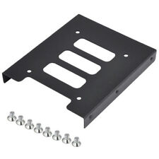 "Black 2.5"" SSD to 3.5"" Bay Hard Drive HDD Mounting Dock Tray Bracket Adapter Top"