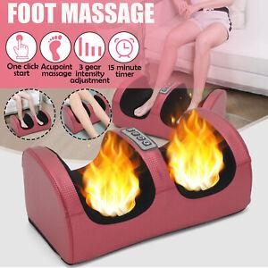 Electric Foot Warmer Massager Relaxing Heated Feet Soft Comfort Leg Massager UK