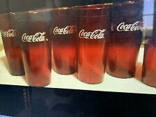 New (24) Coke Coca Cola Restaurant Red Plastic Tumblers Cups 24 oz Carlisle