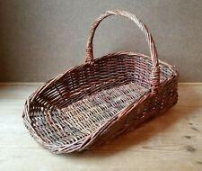 Vintage Rustic - Wicker Garden Flower Basket / Trug - Flower Display - 42cm L