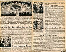1929 small 2 Page Print Ad Cultivation of Personal Magnetism secret brain forces