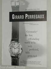 1951 Girard Perregaux Watch advertisement, Gyromatic wristwatches