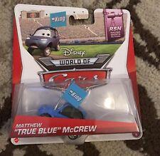"NEW Disney Pixar CARS 2013 Matthew ""TRUE BLUE"" McCrew from Racing Sports Network"